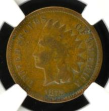 1872 Indian Head Cent NGC F 12 BN