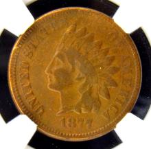 1877 Indian Head Cent NGC VF Details I/C