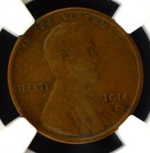 1914-D Lincoln Cent NGC VF 25 BN