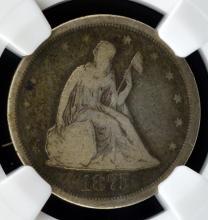 1875-S Liberty Seated Twenty Cent Piece NGC F 12