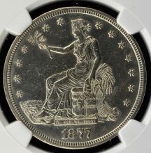 1877-S Trade Dollar NGC UNC Details I/C