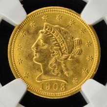 1903 $2.5 Liberty Head Gold Quarter Eagle NGC MS64