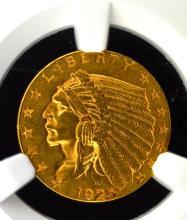 1925-D G$2.5 Indian Head Quarter Eagle NGC AU 58