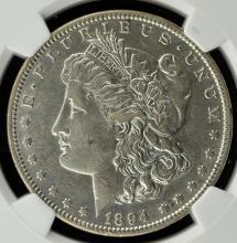 1894 Morgan Silver Dollar NGC XF 45