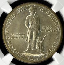 1925 Lexington Half Dollar NGC MS 65