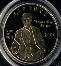 2004-P Edison Silver Dollar PCGS PF 69 DCAM