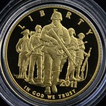 2011-W $5 United States Army Proof Gold Coin