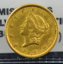 1851 $1 Liberty Head Gold Dollar XF