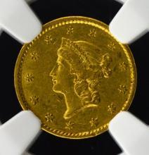 1851-C $1 Liberty Head Gold Dollar NGC AU 55