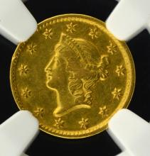 1853-D $1 Liberty Head Gold Dollar NGC AU Details