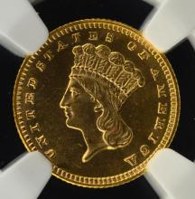 1889 $1 Indian Princess Head Gold Dollar NGC MS 66