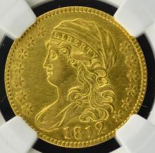 1812 $5 Capped Bust Gold Half Eagle NGC AU Det I/C