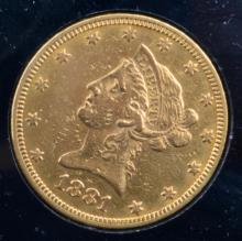 1881 $10 Liberty Head Gold Eagle XF Details