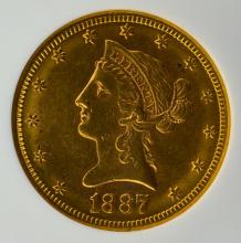 1887-S $10 Liberty Head Gold Eagle NGC MS 60