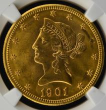 1901-S $10 Liberty Head Gold Eagle NGC MS 64
