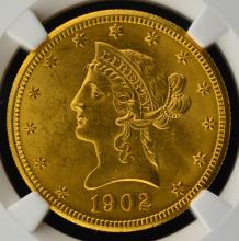 1902-S $10 Liberty Head Gold Eagle NGC MS 62