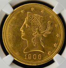 1906-D $10 Liberty Head Gold Eagle NGC MS 62