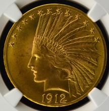 1912 $10 Indian Head Gold Eagle NGC MS 63 CAC