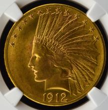 1912 $10 Indian Head Gold Eagle NGC MS 64
