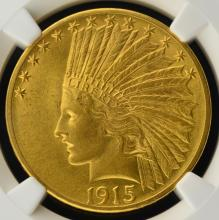 1915 $10 Indian Head Gold Eagle NGC MS 62
