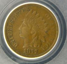 1877 Indian Head Cent PCGS XF 40