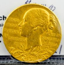 1897 Queen Victoria Diamond Jubilee Gold Medal XF