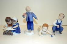 Four Royal Copenhagen/Bing & Grondahl Figurines