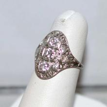 Vintage Platinum Diamond Filigree Ring 1ctw