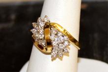 18kyg diamond Cocktail Ring 1ctw