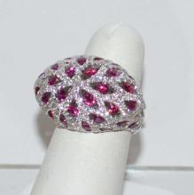18kt Ruby and Diamond Dome Fashion ring