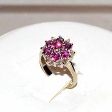 14kwg Ruby & Diamond Ring