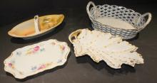 4 Pieces of Hand Decorated Porcelain