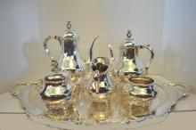 Reed & Barton Silver Plate Coffee/Tea Service