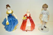 Three Porcelain Figurines