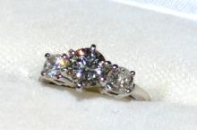 Platinum 3 Stone Diamond Ring 1.83ctw