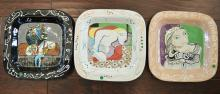 Three Picasso Style Plates
