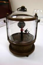 Mechanical Glass Fish Clock