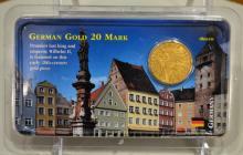 German Gold 20 Mark Wilhelm II 1893