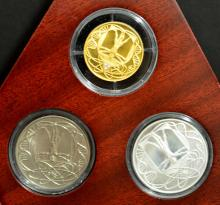 2000 III Millennium Italian Mint 3 Coin Proof Set