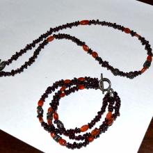 Garnet / Carnelian Necklace & Bracelet