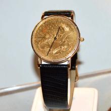 Man's Corum $20 Gold Liberty Coin Watch