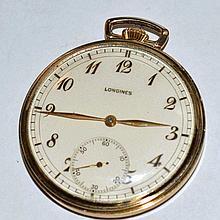 10k Gold Filled Longines Pocket Watch