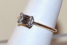 .67ct Emerald Cut Diamond Engagement Ring 14kyg