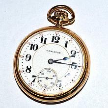 14k Gold Filled Hamilton 992 Pocket Watch