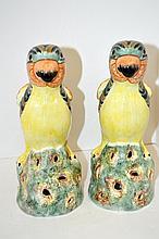 Pair Of Porcelain Parrots