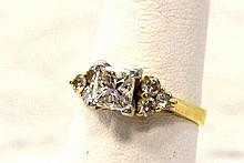 14kyg Princess Diamond Engagement Ring 1ct