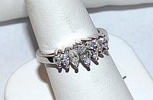 1.02ctw Marquise Diamond Ring In Platinum