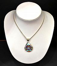 Sterling Necklace and Pendant by Alvin Yellowhorse