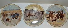 Three Gorham Frederic Remington Plates