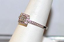 14kwg Princess Diamond Engagement Ring
